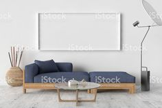 Blank Picture frame on the wall. royalty free stockfoto
