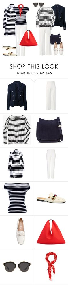 """Морской стиль"" by repriza on Polyvore featuring мода, Theory, Roland Mouret, J.Crew, The Row, Yumi, ESCADA, Michael Kors, Gucci и Tod's"
