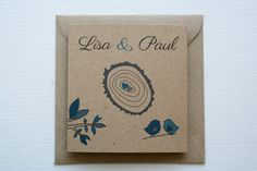 wedding invitations // square // trifold // recycled brown kraft