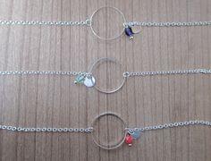 Bracelet Cercle Argenté et Petite Perle : Bracelet par an-ou-shka