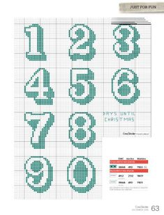 CrossStitcher is Britain's number one cross stitch magazine, and it's packed with beautiful designs for you to stitch and stylish ideas to inspire you. Cross Stitch Numbers, Cross Stitch Letters, Cross Stitch For Kids, Cross Stitch Cards, Cross Stitch Baby, Cross Stitching, Cross Stitch Embroidery, Crochet Alphabet, Crochet Letters