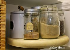 DIY Lazy Susans for your Pantry.  Easy peasy and super cheapy!