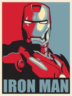Iron man in pop art
