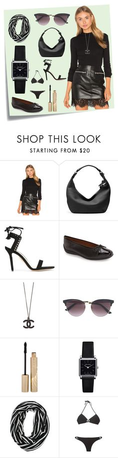 """Black For Ever..*"" by yagna ❤ liked on Polyvore featuring Post-It, Somedays Lovin, Diane Von Furstenberg, Charlotte Olympia, ara, Gucci, Stila, Isabel Marant, Ack and vintage"