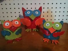 owls from clay class....i wonder how hard these would be for kids to make....