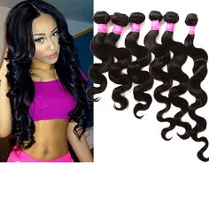 """300g Full Head 3Bundles 16""""18""""20""""Body Wave Human Hair Extension US Ship Wefts #WIGISS #HairExtension"""