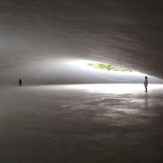 The Teshima Art Museum designed by Tokyo-based architect Ryue Nishizawa and…