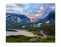 "Thanks for the kind words! ★★★★★ ""I like it!I like!Beautiful! "" Wim https://etsy.me/2B2icEV #etsy #art #print #digital #youcangoyourown #yourownwayprint #inspirationalquote #travelprintable #norwayprint #landscapephotograph"