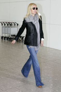 Gwenyth Paltrow in MIH jeans... I have these exact jeans - they haven't fit in over a year. Bummer.