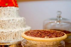 Serve carrot cake and pecan pies at your wedding! This bride did...Big Hit!