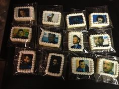 Cookies representing WTF with Marc Maron episodes. Via Marc Maron's Twitter feed. Baked by Golden Age Bakery, Chapel Hill, NC.