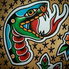 Image result for sailor jerry traditional snake