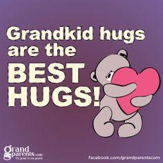 Grandkid hugs are the best hugs Grandmother Quotes, Grandma And Grandpa, Call Grandma, Grandkids Quotes, Grandmothers Love, Best Hug, Grandchildren, Granddaughters, Grandparents