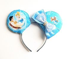 A personal favorite from my Etsy shop https://www.etsy.com/listing/238766421/cinderella-ears-cinderella-mickey-ears