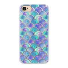 Rainbow scales of a mermaid - iPhone 7 Case And Cover ($29) ❤ liked on Polyvore featuring accessories, tech accessories, phone, phone cases, blue, iphone case, apple iphone case, slim iphone case, iphone cases and blue iphone case