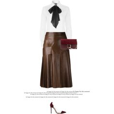 How To Wear Brown & Red Outfit Idea 2017 - Fashion Trends Ready To Wear For Plus Size, Curvy Women Over 20, 30, 40, 50