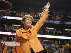 Pat Summitt -Tennessee Lady Vols - 8 National Championships, 15 SEC Championships, 29 NCAA Tournament Appearances, Most Wins in College Basketball history for both men and women. & she is cancer survivor! Go Pat