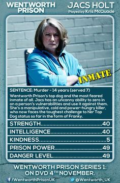 Jacs Holt - the most intimidating Top Dog ever to grace  Wentworth Prison