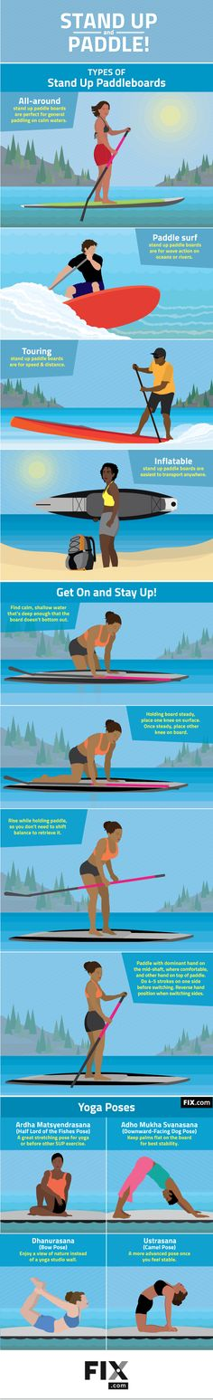 Stand Up Paddle Boarding More Than Just Standing and Paddling #infographic #PaddleBoards #Health #Yoga