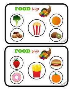 food, jedzenie, bingo, vocabulary, words, restaurant, eating, game, kids