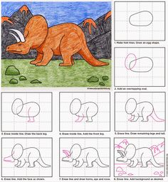 Art Projects for Kids: Draw a Triceratops