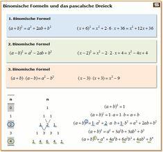 Terme vereinfachen und umformen: 3 Binomische Formel und das pascalsche Dreieck