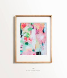 Abstract No. 15 - The Crown Prints Funny Bathroom Art, Create Canvas, Pink Art, Abstract Print, Painting Abstract, Printable Wall Art, Wall Art Decor, Art Prints, Colorful