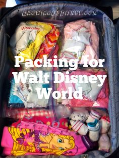 Great packing idea so the kids know what they are going to wear everyday.