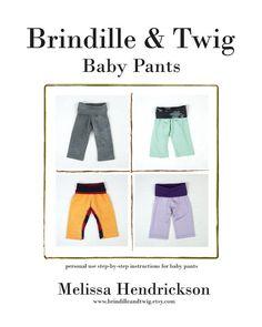 Baby Boy or Girl sweatpant pattern .pdf download...... 0-3, 3-6, 6-9, 9-12 month sizes