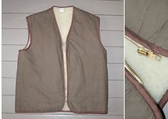 Vtg 60s FRENCH WORK VEST Canvas Chore Workwear Post Hunting Jacket Size L