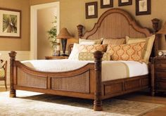 amazing-wooden-bed-design-with-curved-headboard-and-footboard