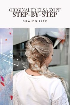 """Hairstyle Instructions: The Original Elsa Braid from """"Frozen - Hairstyles long hair, hairstyles medium length hair, hairstyle instructions simple, hairstyle instr - Elsa Braid, Wave Tatto, Dreadlocks, Cat Noir, Elsa Frozen, Cool Hairstyles, Hair Care, Braids, About Me Blog"""