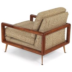 Anonymous, Mahogany Frame Lounge Chair, 1960s.