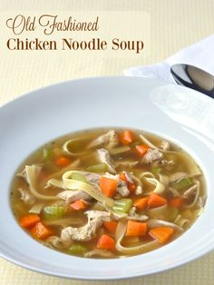 Old Fashioned Chicken Noodle Soup - the best chicken noodle soup you've ever tasted starts with a simple recipe and a deep, rich, perfectly seasoned broth.