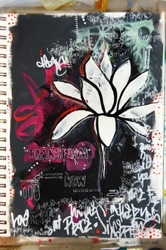Graffiti Grunge Art Journal Page by Martice Smith II with StencilGirl Products