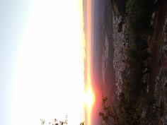 Puesta de sol desde San Isidro!!