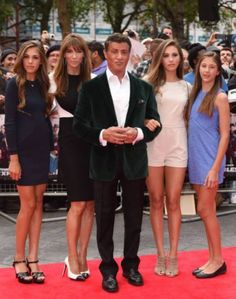Sylvester Stallone and his family :)