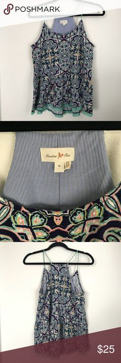 Anthropolgie Meadow Rue Nuria Swing Tank Blue M Very food used condition. No flaws or damage. Anthropologie Tops Tank Tops