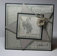 Card for a Cowboy.... by Mothermark - Cards and Paper Crafts at Splitcoaststampers
