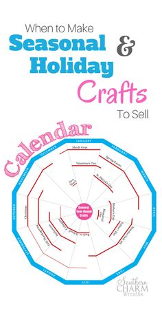 A calendar of when to make holiday crafts to sell. I use this for my Etsy wreath… A calendar of when to make holiday crafts to sell. I use this for my Etsy wreath business but it works for all crafts. Easy Crafts To Sell, Diy And Crafts, Creative Crafts, Paper Crafts, Etsy Wreaths, Thing 1, Craft Day, Do It Yourself Crafts, Craft Business