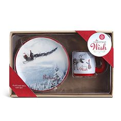 The Christmas Wish Plate and Mug Snack Set Set of 2 ** See this great product.