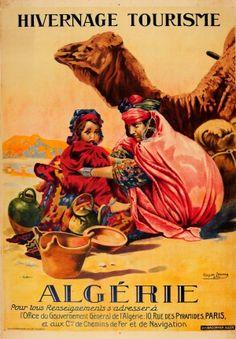 Hivernage Tourisme Algerie Algeria 1924 - original vintage travel poster by Roger Irriera for Winter Tourism in Algeria (north Africa) listed on AntikBar.co.uk