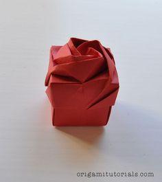 Origami Rose Box Tutorial: