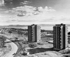 Menzieshill Multis, Dundee. (1960s) Dundee City, Take The High Road, Great Britain, Old Photos, New York Skyline, Scotland, Scenery, Childhood, Country Roads