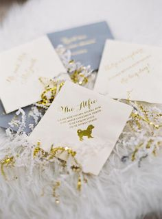 Photography : Bonnie Sen | Invitations : Creative Parties | Floral Design : Edge Flowers | Hotel : Four Seasons | Event Planning : SoCo Events Read More on SMP: http://www.stylemepretty.com/2017/01/27/winter-wedding-dubbed-by-the-couple-as-a-champagne-soaked-dance-party/