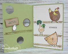 """Unser """"Hahn im Korb"""" hat heute Geburtstag! Was passt besser als eine Geburtstagskarte mit und von seinen drei Hühnern? Und weil..."""