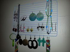 Jewelry organizer from old oven grill Jewelry Organization, Wind Chimes, Upcycle, Oven, Outdoor Decor, Projects, Home Decor, Kitchen Stove, Blue Prints