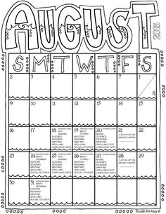 Students can color this April calendar and fill in the