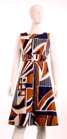 NWT Vintage 1970s Tori Richards Geometric Aline by LondonCouture, $75.00 Women's vintage fashion clothing for  summer