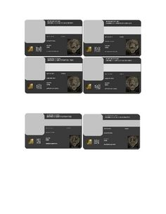 "Hunger Games ""Make Your Own District ID Cards"" by @Carly Bartemes"